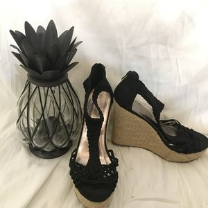 Mossimo Supply Co. Black Braided Wedges